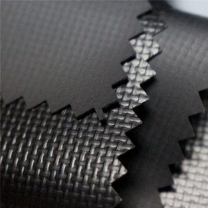 590gsm 0 44mm 1000d * 1000d 20 * 20 sjajno obojena poliuretanska platna od tkanine od tkanine, poklopac kamiona, natpis