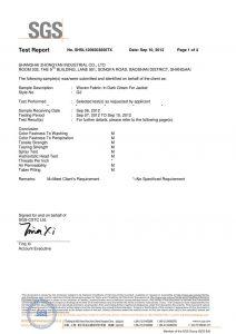 Tkanina u tamno zelenu za Jacket SGS certifikate